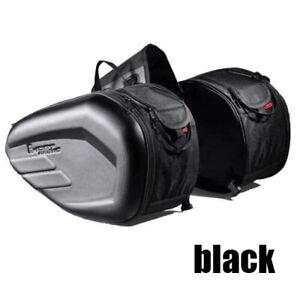 Motorcycle Saddlebags Waterproof Tank Bag Tail Bag Travel Luggage Pannier Black