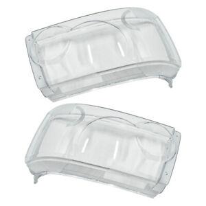 2pcs L&R Front Headlamp Headlight Lens Cover Fit For Range Rover Sport 2006-2009