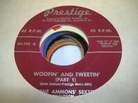 Jazz Funk 45 GENE AMMONS' SEXTET Woofin' and Tweetin' (Part I) on Prestige