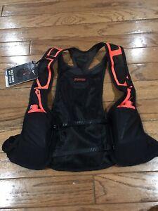 Nike Trail Running Kiger Vest Black Orange Hydration Vest Unisex Multi Size XL