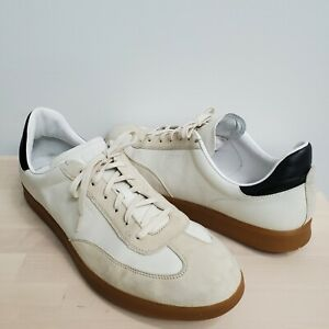 Zero Grand Cole Haan Men Size 15 W Lace Up Leather & Suede Sneakers Beige White