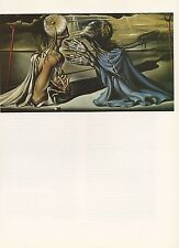"1976 Vintage SALVADOR DALI ""TRISTAN AND ISOLDE"" COLOR Art Print Lithograph"