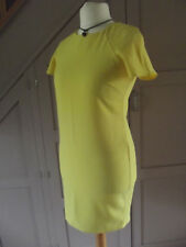 M&Co Ladies Yellow Shift Dress Exposed back Zip UK 10 Petite