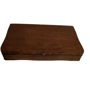 Vintage Wood Silverware Flatware Wooden Storage Chest Box