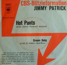 """7"""" 1971 CBS BLITZ ! JIMMY PATRICK : Hot Pants /MINT-?"""