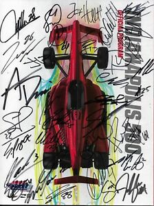 2018 INDY 500 FULL FIELD SIGNED PROGRAM INDIANAPOLIS 102 DANICA WILL POWER IMS