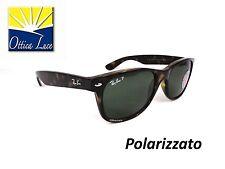 RAY BAN NEW WAYFARER 2132 902/58 AVANA 55 POLARIZZATO Sunglass Sonnenbrille Sole