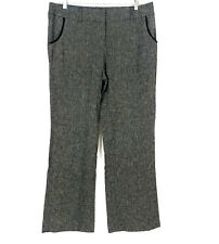 8238c9f7234d7 AGB Women s Size 14 Linen Blend Pockets Detail Gray Black Career Trouser  Pant
