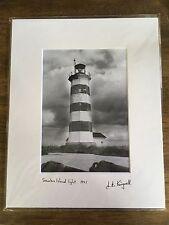 Sambro Island Lighthouse, 1991, b&w photograph; Nova Scotia, Knickle Studio