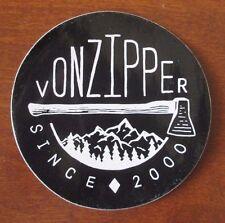Authentic VON ZIPPER Sunglasses Sticker 3 1/2 inch round