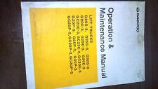Daewoo Operation & Maintenance Manual Lift Truck