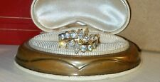 Ross Simons 18k yellow gold vermeil sterling silver cz marquise 2 row wave ring