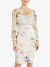 New Phase Eight Floral Eugienia Long Sleeve Dress Sz UK 10  rrp £130