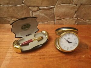 Set of vintage clock 2 jewels and a vintage pen Greenwich collection