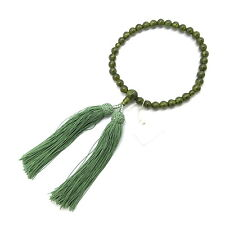 Green Garnet Juzu Prayer beads Japan Kyoto Buddhism Meditation