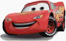 Cars-La foudre McQueen Counted Cross Stitch Kit, Disney Film/TV