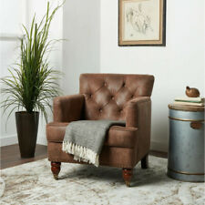 Abbyson Tafton Antique Brown Fabric Club Chair - New in Box