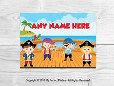 Pirate Birthday Party Personalised Placemat A4