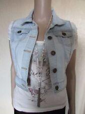 New Look Cropped Denim Waistcoats for Women