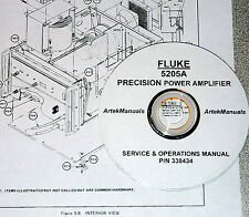 FLUKE 5205A Precision Power Amplifier: Instruction (Ops+Service)  Manual