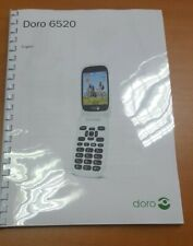 DORO 6520 FULL USER MANUAL GUIDE INSTRUCTIONS PRINTED A4 HANDBOOK