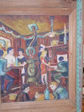 Amazing original vintage art work world war 2 bar scene  signed Hay  1946