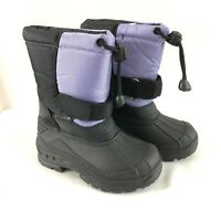 Skadoo Toddler Girls Winter Snow Boots Drawstring Purple Black Size 6