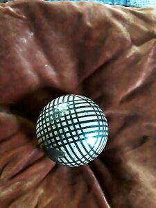 Antique Scottish English Victorian Ceramic Black & White Carpet Ball Carpet Bowl
