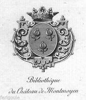 EX-LIBRIS de Paul BONNEAU DU MARTRAY. Bourgogne.