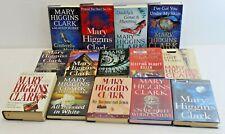 Mary Higgins Clark Mystery Novels Lot of 14 Hardcover Books SCPL