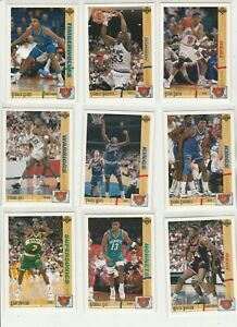 90'S INSERTS LOT (9/40) 1991-92 UPPER DECK ROOKIE STANDOUTS GARY PAYTON SMITH