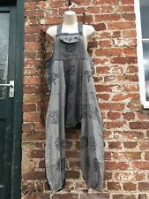 unisex hippie/boho/alternative stonewashed patchwork dungarees M
