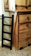 Primitive Rustic EBONY Ladder Home Wall Decor Jewelry Tie Towel Quilt Towel Rack