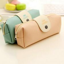New Student Stationery Pencil Pen Case Cosmetic Makeup Bag Zipper Pouch Purse