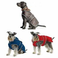 Ancol Muddy Paws Stormguard RED, BLUE BROWN Waterproof Fleece Lined Dog Coat New