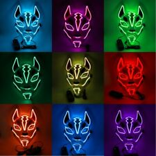 Halloween Glow Fox Mask LED Light Up Costume Fortnite Party Purge Movie Cosplay