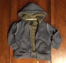 Mini Boden Sherpa Lined Hooded Sweatshirt 5-6