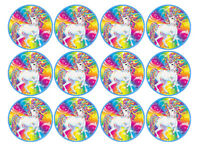 12 RAINBOW UNICORN EDIBLE WAFER PAPER CUPCAKE CUP CAKE DECORATION IMAGES TOPPERS