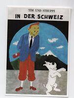 Carte Postale Les Portraits de Tintin n°2. Tim und Struppi in der Schweiz - 2016