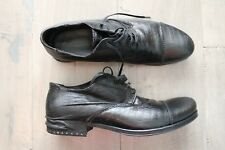 SALE PRIMABASE LEATHER BLACK DRESS CASUAL SHOES US 8 / EU 41 MSRP: $495.00 ITALY