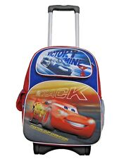 "B17CR34845 3D Pop Out Cars 3 Large Custom Rolling Backpack 16"" x 12"" x 6"""