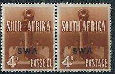 p005) South West Africa.1941/43. MM.  SG 118a 4d Red-brown. War Effort. c£20+