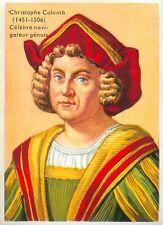 Christophe Colomb Cristoforo Colombo Christopher Columbus IMAGE CARD 1951