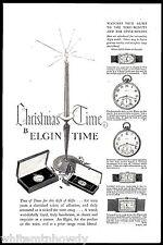 1927 ELGIN Pocket Watch in 2 styles Men's & Ladies Wrist Watches AD w/prices