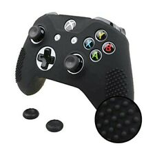 Xbox One X S Slim Controller Silicone GRIP Cover + 1 Pair Thumbgrips Set BLACK
