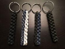 ONE (1) Paracord Keychain FOB 550 Cord USA Custom Colors! BOX KNOT TJPARACORD