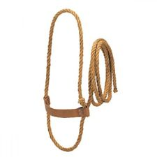 Weaver Leather Sisal Rope Halter with Harness Leather Noseband, Cow