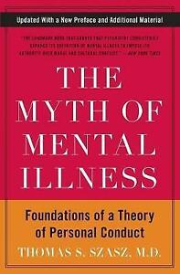 Myth of Mental Illness, The, Szasz, Thomas S.,  Paperback