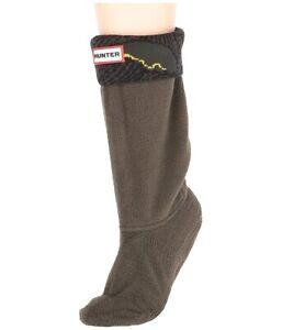 Little Kid Hunter Original Boot Dark Olive Wave Cuff Socks Winter Size XS (5-7)