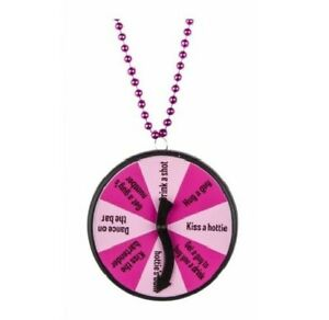 Hens Night Party Game Activity Spinner Necklace Bachelorette Dare Drinking Find